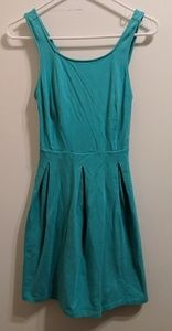 Teal Dress with Criss Cross Back